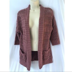 Staring At Stars Pink Open Front Knit Cardigan S
